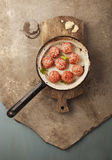 Meatballs cooking Royalty Free Stock Image