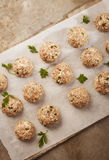 Meatballs cooking Royalty Free Stock Photography