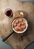 Meatballs cooking Royalty Free Stock Images