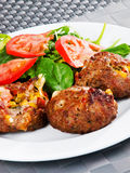 Meatballs with corn and cheese Royalty Free Stock Image