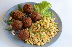Meatballs with couscous Royalty Free Stock Photography