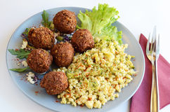 Meatballs with couscous Royalty Free Stock Photo