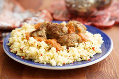 Meatballs with couscous Stock Photo