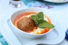 Meatballs in cream sauce Royalty Free Stock Image