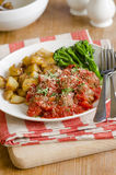 Meatballs with crispy potatoes Stock Images