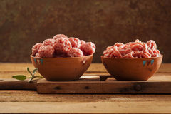 Meatballs crus Fotos de Stock Royalty Free