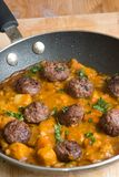 Meatballs with curry Stock Photos