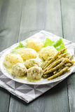 Meatballs in dill sauce Royalty Free Stock Images