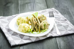 Meatballs in dill sauce Royalty Free Stock Photography
