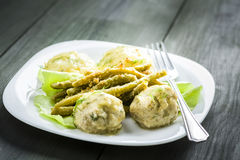 Meatballs in dill sauce Royalty Free Stock Image
