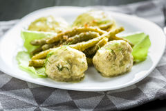 Meatballs in dill sauce Stock Photography