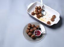 Meatballs for dinner Royalty Free Stock Image