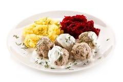 Meatballs dinner Stock Image