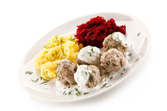 Meatballs dinner Royalty Free Stock Photography