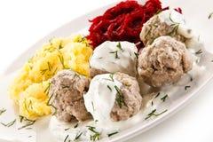 Meatballs dinner Stock Images