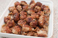 Meatballs with eggplant Stock Photo