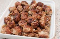 Meatballs with eggplant Stock Photo