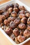 Meatballs with eggplant Stock Photography