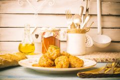 Meatballs with sauce tomato Royalty Free Stock Image