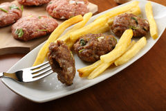 Meatballs with garlic and parsely Stock Images