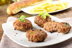 Meatballs with garlic, parsley and onion Royalty Free Stock Photos
