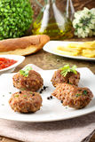 Meatballs with garlic, parsley and onion Royalty Free Stock Photo
