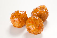 Meatballs with green peas Royalty Free Stock Photography