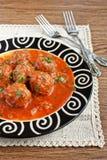 Meatballs i tomatsås Arkivfoto