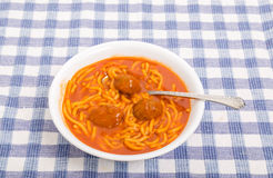 Free Meatballs In Bowl Of Spaghetti Stock Photos - 51620723
