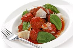 Meatballs italianos Fotografia de Stock Royalty Free