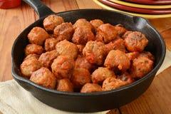 Meatballs italianos Fotografia de Stock