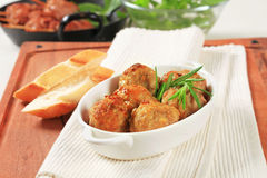 Meatballs and kebabs Stock Photos
