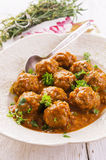 Meatballs Kufteh in Sauce Royalty Free Stock Images