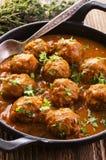 Meatballs Kufteh in Sauce Stock Photos