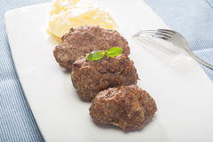 Meatballs and Mashed Potatoes Stock Photography