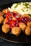 Meatballs and mashed potatoes Royalty Free Stock Image