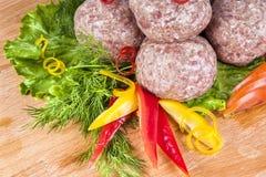 Meatballs med grönsaker Royaltyfria Foton