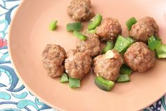 Meatballs with paprika Royalty Free Stock Image