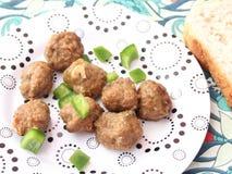 Meatballs with paprika Stock Photos