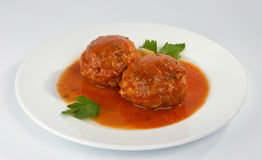 Meatballs with mushrooms. Stock Photography
