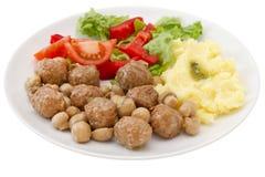 Meatballs with mushrooms Stock Photos