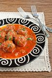 Meatballs no molho de tomate Foto de Stock