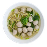 Meatballs Noodle Soup Stock Photo