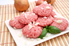 Meatballs with onions Stock Photography