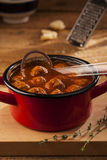 Meatballs in pan Royalty Free Stock Images