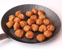 Meatballs in a pan Royalty Free Stock Photos