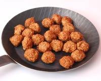 Meatballs in a pan Royalty Free Stock Photos