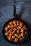 Meatballs in the pan Stock Photography
