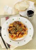 Meatballs And Pasta Stock Photos