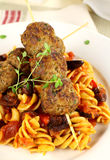 Meatballs And Pasta Royalty Free Stock Photo